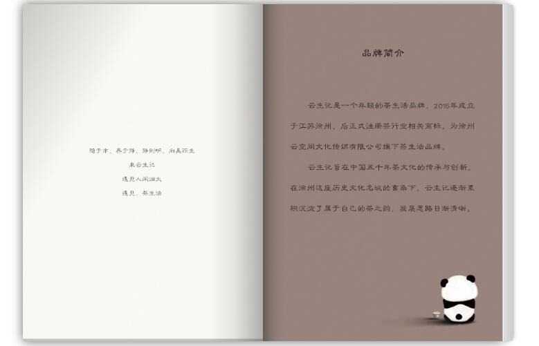 云生记公司电子宣传册案例